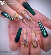 20 Shiny Light Pink Coffin Nail Art Design zum Ausprobieren… – Marble Nail Art Ideas