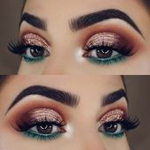 23 Glam Makeup Ideas for Christmas 2017