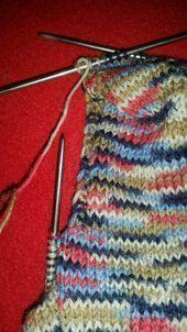 Socken stricken wie Oma mit ganz einfacher Anleitung! – Handarbeiten – #Anleitun…