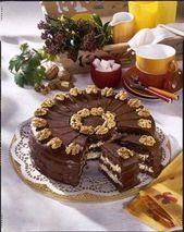 Schokoladen-Walnuss-Kuchen   – Essen und Trinken