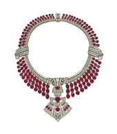 AN ART DÉCO RUBY AND DIAMOND NECKLACE | necklace,…