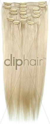 Double Weft Full Head Clip in Hair Extensions | Platinum Blonde – Whitish Blonde…, #Blonde…