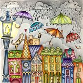 Illustrator Brushes A storm is blowing through town...but April showers ☔️ bring May flowers! Ha...