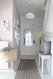 Pudrig, weich und klar …. mein kleiner flur mit einer neuen galerie … jetzt aufm ….   – corridor wall design