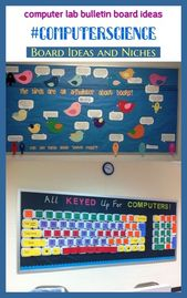 Computer lab bulletin board ideas #computerscience #pinterestkeywords #trending. computer lab design, computer lab classroom, elementary computer lab,…