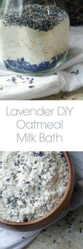 Easy Lavender DIY Haferflocken Milchbad Rezept
