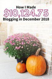 Dezember 2018 Blog Traffic & Income Report – ♥︎ MAKE MONEY BLOGGING