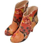 Think Menscha women's ankle boots in red ThinkThink!