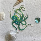 Octopus Temporary Tattoo, Temporary Tattoo, Octopus Tattoo, Beautiful Octopus Accessory for Summertime Fun