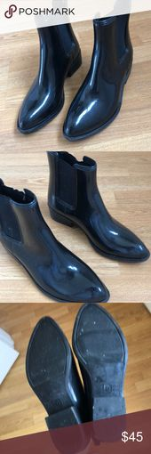 Shiny Rain Booties Urban Outfitters Regenstiefel (Ines), Größe 9, kaum getragene … – My Posh Picks