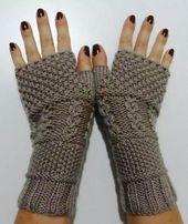 Wie Fingerlose Handschuhe stricken – Stricken und Häkeln