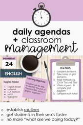 daily agenda for middle school