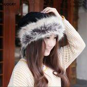 Winter Hat Women Scarves Beanies Fur Cap Warm Plus Hats For Women Baggy Knit Caps Fur Bonnet Ladies Winter Beanie Wool Hat 2017 – Skullies & Beanies