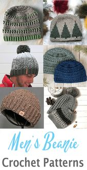 15 Men's Crochet Hat Patterns