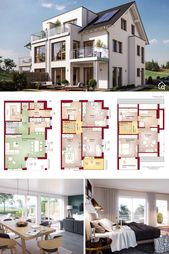 Dupelx House Floor Plan with 5 Bedroom Modern Cont…