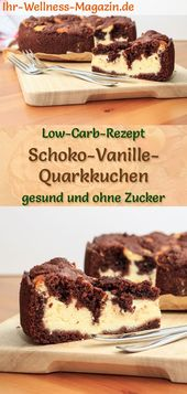 Photo of Saftiger Low Carb Schoko-Vanille-Quarkkuchen – Rezept ohne Z…
