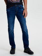 Weft med blue Regular fit Jeans