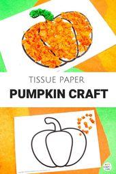 Arty Crafty Kids – Seidenpapier-Kürbis für Kinder. Ein süßer Herbst oder Heiligtum …