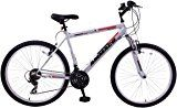 Ammaco Aspen 21 Frame Mens Front Suspension 26 Wheel Bike Silver Green 21 Speed Mountain Bike Bike Mountain Biking Black And Red