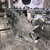 Diamond Crush Diamond Console Table – Mirrored furniture – Sparkle Diamond – Hou…