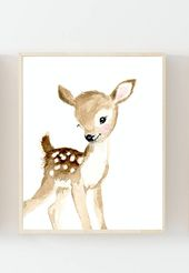 Nursery woodland Print Set 3, Neutral Nursery Art , Nursery Decor, Kids Wall Art, nursery art,squirrel, fox painting, baby woodland animals