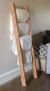 DIY Holz und Metall Pipe Blanket Ladder Glücklicher Montag Jungs! Um mit all dem Schritt zu halten