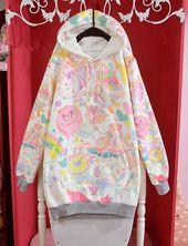 2016 new winter plus velvet cotton Harajuku cute animal party hoodies from Harajuku fashion