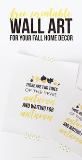 FREE Printable Wall Art for Your Fall Home Decor