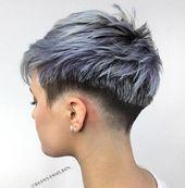 Freche und nervös rasierte Frisuren für Frauen