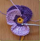 DIY Crochet Violet Flower Free Sample Detailed Tutorial