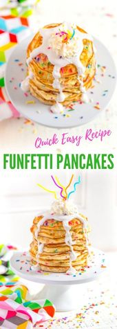 Funfetti Pancakes from Scratch   – COMFORT FOOD