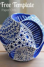 Straightforward DIY Craft Paper Orb Tutorial
