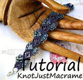 Micro Macrame Tutorial – Hydrangeas Bracelet Pattern – Beaded Macrame – Jewelry …
