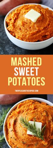 The BEST mashed sweet potatoes! They are the perfect holiday side dish! #sweetpo…