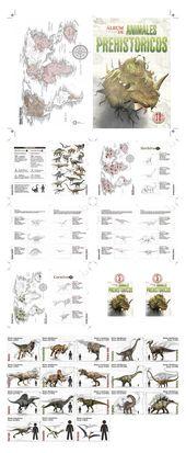 Álbum prehistórico con escalas – Diseño editorial en libros y revistas
