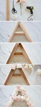 DIY Flower Monogram – make this fun and easy summer decor