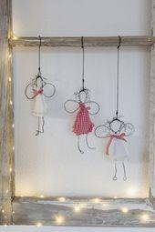 Engel DIY für Weihnachten oder New Wire Angel, Pomponetti
