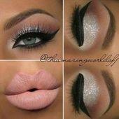 Eye makeup glitter silver holidays 65 ideas #makeup #eye #EyeMakeupPink