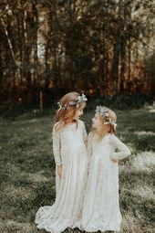 34b8da87a60c438e5971b3a18df49f61 - Flower Girl Dresses-Rustic Flower Girl Dresses-White Vintage girl dress-Country Dress-Flower girl dr
