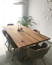 Maison de style moderne avec des couleurs chaudes et des meubles en bois   – Yemek odası dekorasyon fikirleri