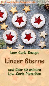 Low Carb Linzer Sterne – einfaches Plätzchen-Rezept für Weihnachtskekse
