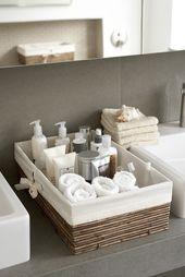 44 kreative Aufbewahrungsideen zur Organisation Ihres kleinen Badezimmers