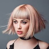 Image result for thick hair straight bangs