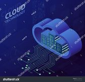 Cloud Technology Isometric Concept Modern Computing Stock Vector (Royalty Free) 1177165141
