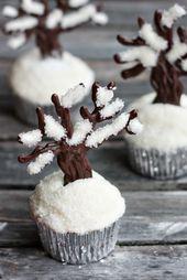 Estos cupcakes son ideales para el invierno, ¡son hermosos! O.O   – baking