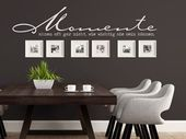 Wall tattoos combined with picture frames | new wall ideas