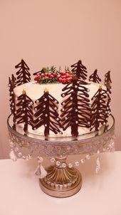 Snow Forest Cake – para Navidad! Pastel de chocolate y café y vainilla Mascarpone …   – Backen