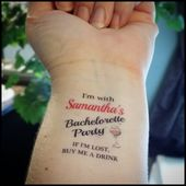 Bachelorette Party Tätowierungen temporäre Tätowierungen Bachelorette Tattoo Hochzeit Tätowie…