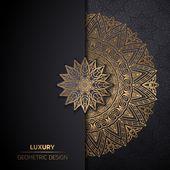 Luxus ornamental Mandala Design Hintergrund in gol…