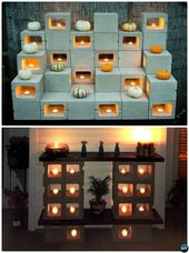 10 unerwartete DIY Betonstein Möbelprojekte